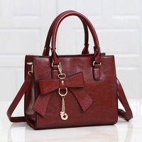 Fashion Women PU Leather Tote Shoulder Bags Hobo Handbags Satchel Messenger Bag