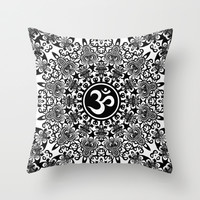 Decorative Circle O'Mandala Throw Pillow by Webgrrl | Society6