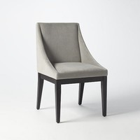 Curved Upholstered Chair - Dove Gray