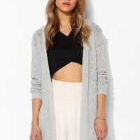 Pins And Needs Pointelle Hooded Cardigan - Urban Outfitters