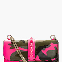 GREEN & PINK CAMO PRINT CANVAS LOCK BAG