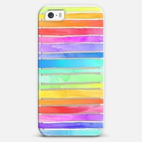 Crystal Rainbow Watercolor Stripes iPhone 5s case by Micklyn Le Feuvre | Casetagram