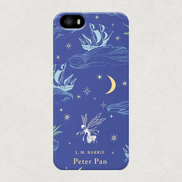 Peter Pan Classic Penguin Book Cover iPhone 4 4s 5 5s 5c Samsung Galaxy S3 S4 Case