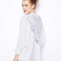 New Look Lace Back Cocoon Cardi