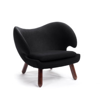 Cupped Chair in Black