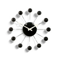 Black Atomic Wall Clock