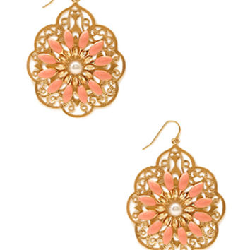 Delicate Filigree Drop Earrings