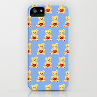 Cute Teddy Bears Blue Pattern iPhone & iPod Case by Boriana Giormova | Society6