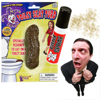 Fart Spray Fake Toilet Turd Poop Combo - Prank Novelty Gag Nasty Smell Spray | Super Fun Time Gifts - Quirky, Trendy, Fun!