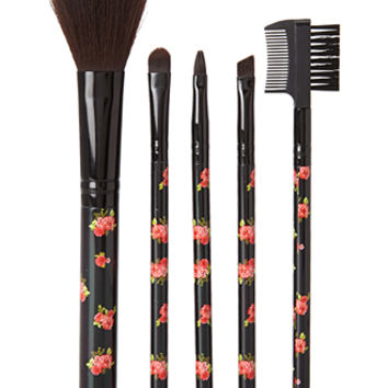 Sweet Rose Cosmetic Brush Set