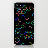 iPhone 5 Case - Hexagon Darkness - unique iPhone case, art iPhone case, hipster iphone case, iphone 5 case, iPhone 5S Case
