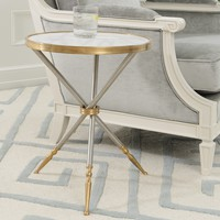 Global Views Furniture Campaign Side Table