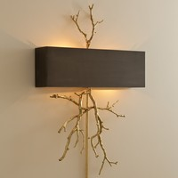 Global Views Lighting Twig Brass Wall Sconce