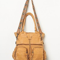 Free People Womens Washed Axel Tote - Vintage Tan, One