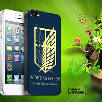 Attack on titan military Logo Samsung Galaxy S3/ S4 case, iPhone 4/4S / 5/ 5s/ 5c case, iPod Touch 4 / 5 case