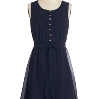 ModCloth Nautical Mid-length Sleeveless A-line Bayfront Bliss Dress