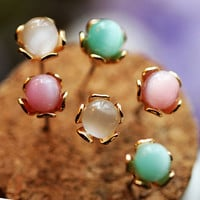 Fashion Color Balls Earrings (Set Of 6 Pcs)