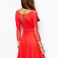 Free People Dress in Lace with Cut Out