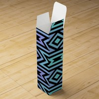 Lilac/Teal Aztec Pattern Gift Box for Wine or Spirits @ Zazzle.com
