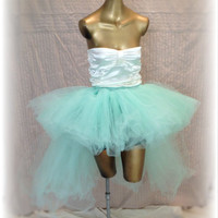 Adult tutu, high low tutu skirt, mint tutu, special occasion tutu, bustle tutu skirt, wedding bridal tutu tulle skirt, mint skirt, EDC