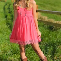 Summer Haze Dress-Coral
