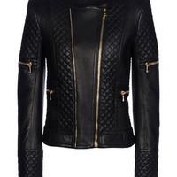 Balmain Leather Outerwear - Balmain Leatherwear Women - thecorner.com