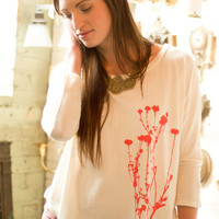 Organic Flowers Floral Top: Soul Flower Clothing