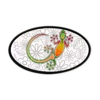 Gecko Floral Tribal Art Hitch Cover