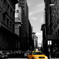 NYC Taxi Art Print by Ellen Crema | Society6