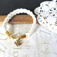 KNOTTY v7 braided nautical rope bracelet with anchor by brideblu