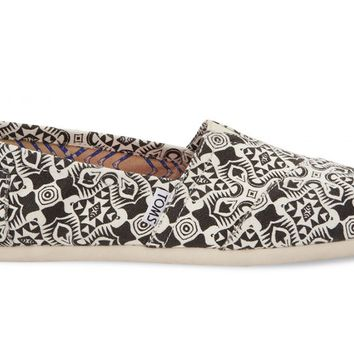 Black Kaleidoscope Canvas Women's Classics