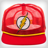 The Flash Full Mesh Snapback Hat