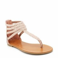 braided gladiator sandals &amp;#36;16.00 in PEWTER ROSEGOLD - Sandals | GoJane.com