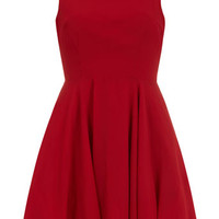 Deep Red Plain Jane Prom Dress