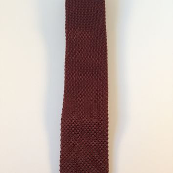 Coffee Brown Narrow Knit Tie