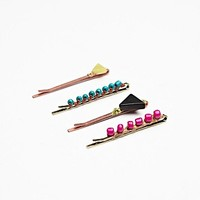 Free People 4 Pack Icon Bead Bobby Pins