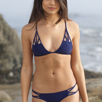 The Girl and The Water - ACACIA Swimwear - Santorini Bikini Top / Indigo - $101