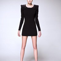 piiqshop - Market Place - Long Sleeve Bodycon Dress
