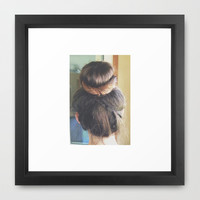 BRAIDED BUN Framed Art Print by M O L L Y J A N E