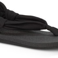 Sanuk Yoga Sling Shot Black Flip-Flops - Women's