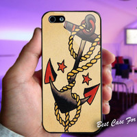 Anchor Tattoo Style Sailor Pirate - Print on cover for iPhone and Samsung Galaxy case