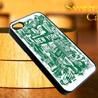 New York City Art iPhone 4 4S iPhone 5 5S 5C and Samsung Galaxy S3 S4 Case
