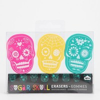 Sugar Skull Eraser - Set Of 3
