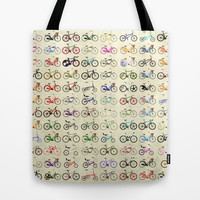 Bikes Tote Bag by Wyatt Design