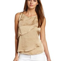 Chaus Women's Asymmetric Tiered Blouse