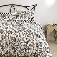 Monochrome Bloom Duvet
