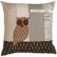 Night Owl Applique Pillow