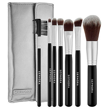 Sephora: SEPHORA COLLECTION : Deluxe Antibacterial Brush Set : brush-sets-makeup-brushes-applicators-makeup