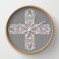 Pocatiki Tribe Wall Clock by Tiki | Society6