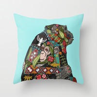chimpanzee love sky Throw Pillow by Sharon Turner | Society6